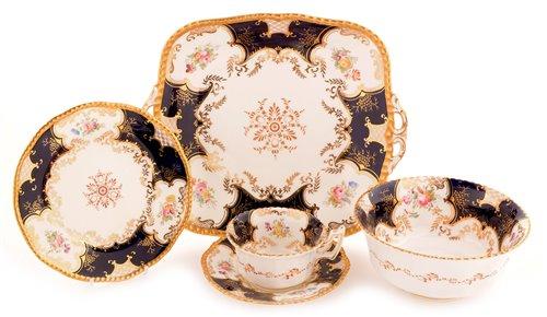 Lot 137-Coalport bone china tea service