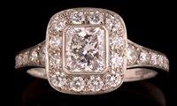 773 - Diamond cluster ring