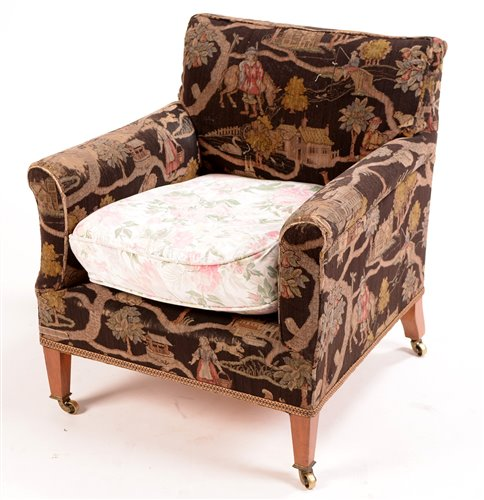 953 - A late 19th Century mahogany armchair.
