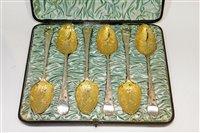 Lot 606 - Set of six George III table spoons