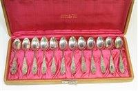 Lot 630 - Twelve American silver coffee spoons