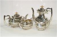 Lot 603 - Four piece silver tea and coffee service