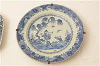 Image for Two 18th Century Chinese blue and white plates.