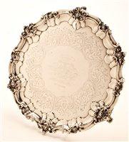 Lot 604 - Victorian silver salver