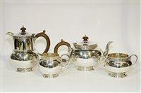 Lot 557 - A George V four-piece silver tea service