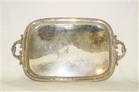 Lot 601 - Silver tea tray