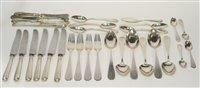 Lot 623 - Continental silver flatware