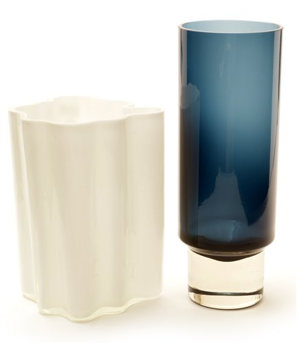 Lot 1015-Alvar Aalto savoy vase and a cylinder vase