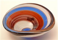 Lot 1016-Three  Dino Martens glass bowls