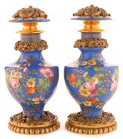 174 - Pair of Jacob Petit porcelain scent bottles