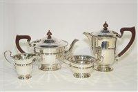 Lot 566 - A George V silver four piece tea service