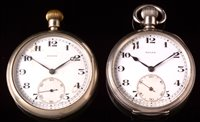 660 - A Rolex pocket watch; and a military issue pocket watch.