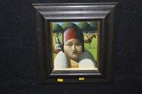 Lot 197-Stephen Mangan oil painting