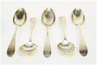 Lot 589 - Set of silver table spoons