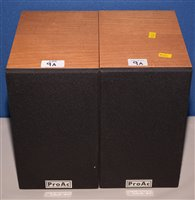 Lot 9A - Pair of ProAc Tablette speakers 1980's