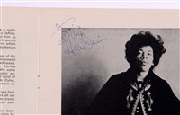 Image for 'Official Programme' signed Jimi Hendrix and others