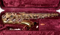 Lot 35 - A Corton saxaphone serial number 138735