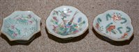 Image for Nine twentieth century Chinese Famille Rose dishes
