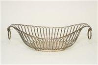 Lot 569 - A silver wire work basket