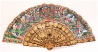 Image for A 19th Century Chinese export lacquer fan