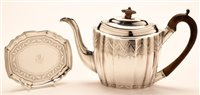 Lot 609 - Peter and Ann Bateman teapot and stand