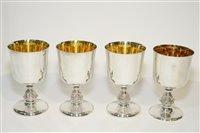 Lot 567 - Four Lindisfarne Silver Goblets