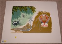 "Lot 214-""Aesop's Fables: The Gnat & The Lion""."