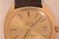 Image for A gentleman's 18k gold wristwatch.
