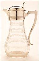 Lot 573 - Cut Glass silver mounted claret jug