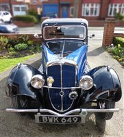 Image for A BSA Coupe Motor Car reg BWK 649