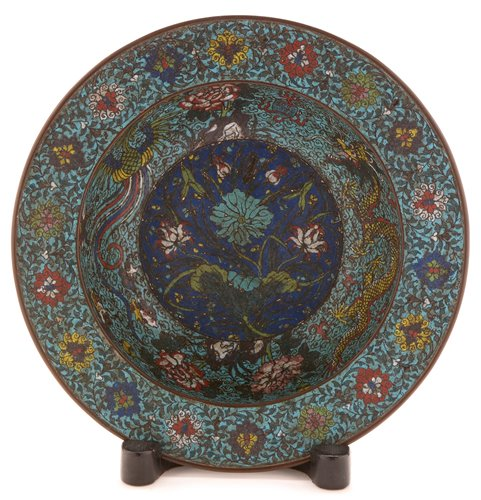 59 - A Chinese Cloisonne basin