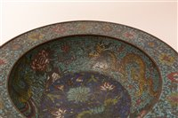 Lot 59-A Chinese Cloisonne basin