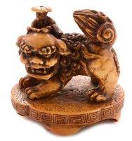 Lot 52 - Japanese carved ivory okimono