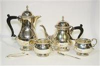 Lot 552 - An Elizabeth II silver four piece tea service