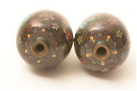 Image for Pair of miniature Japanese cloisonne vases