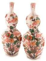 Lot 44 - A pair of 18th Century Arita porcelain vases