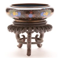 Image for Late 19th Century Chinese cloisonne shallow bowl