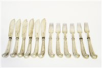 Lot 588 - Set of six fish knives and forks