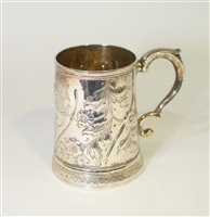 Lot 594 - Newcastle silver tankard