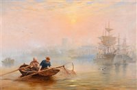 """368 - """"Shrimpers: a hazy morning on the Tyne""""."""