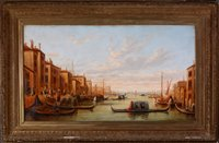 Lot 370-Gondolas on the Grand Canal.