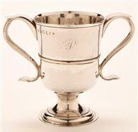 Lot 574 - George III Newcastle silver loving cup