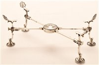 Lot 575 - A George III dish stand by William Plummer