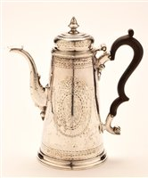 Lot 616 - Exeter silver coffee pot