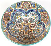 Lot 1014-A large contemporary Moorish style deep bowl