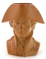 Lot 68 - A Doulton & Watts Lambeth pottery character jug. 'Lord Nelson'.
