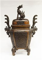 Lot 54 - A bronze censer and cover.