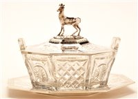 Lot 577A - Silver covered butter dish.