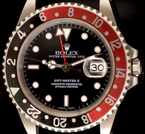 464 - Rolex GMT Master II 16710 with box, papers and tags.