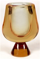 Lot 1005-1970's art glass vase